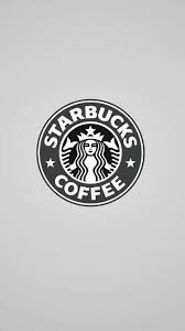 starbucks coffee monochrome logo iphone