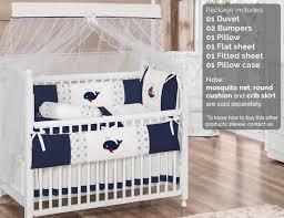 ivory baby boy 7pc nursery crib bedding