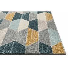 well woven mystic blue grey yellow rug