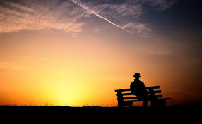 alone man hd wallpaper sunset