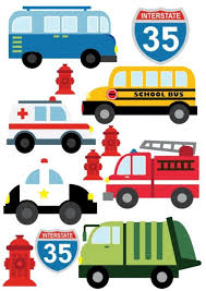 Cars School Bus Fire Truck Police Car Vehicles Childrens Nursery Wall Stickers For Sale Online Ebay