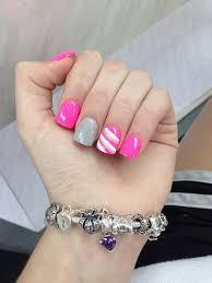 pink nail designs acrylic nails