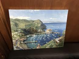 Catalina View From Mt. Ada Thomas Kinkade SN 298 12x16 Canvas NEW ...