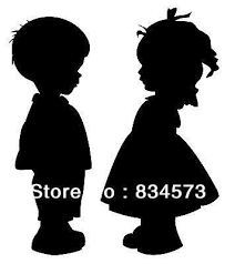 Free Shipping Boy And Girl Holding Hands Silhouette Home Decoration Wall Art Vinyl Decal Sticker Wall Stickers Silhouette Images Hand Silhouette Boy Silhouette