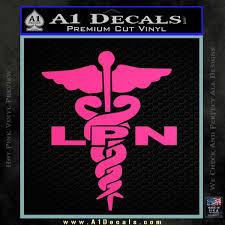 Lpn Nurse Caduceus Decal Sticker A1 Decals