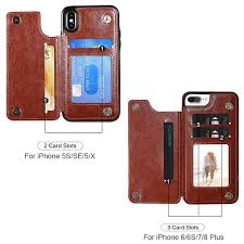 pu leather case for iphone x 6 6s 7