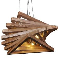 original wood triangles pendant lighting