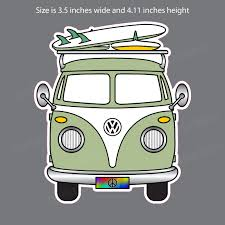 Vw Volkswagen Camper Bus Green Window Decal Bumper Sticker