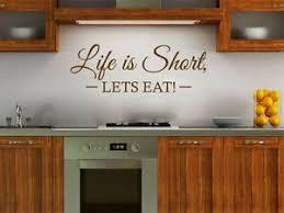 Kitchen Wall Quote Let S Eat Wall Art Sticker Vinyl Decal Modern Transfer Ebay