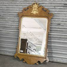 wood antique curly walnut carved mirror