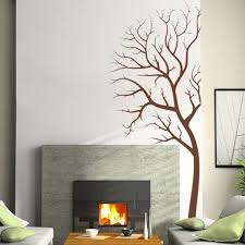 Creative Design Brown Tree Wall Decal Art Home Deco Vynil Etsy