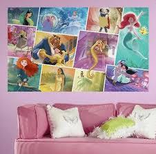 Disney Princess Storybook Wall Sticker Mural Decal Rapunzel