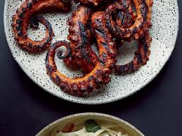 Grilled Octopus with Ancho Chile Sauce ...