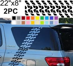 For 2pcs Wrap Tire Tracks 4x4 Offroad Mud Decal Sticker For Suv Car Truck Pickup Jeep Car Stickers Aliexpress