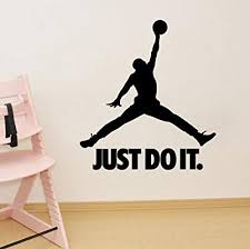Amazon Com Diy Basketball Player Just Do It Living Room Bed Room Wall Decal Wall Sticker For Basketball Lovers Kitchen Dining