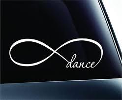 Amazon Com Expressdecor Infinity Dance Symbol Decal Funny Car Truck Sticker Window White Automotive