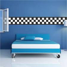 Checkered Flag Border Decal Sports Wall Decal Murals Race Track Wall Stickers Sports Wall Decals Wall Decals For Bedroom Kids Room Wall Murals
