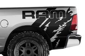 Dodge Ram 1500 2500 3500 2009 2018 6 5 Bed Vinyl Decal Wrap Ram Quarter Factory Crafts