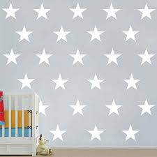 Amazon Com Melissalove 48pcs Set Of Large White Stars Vinyl Wall Decor Stickers Diy White Star Wall Decals Art For Kids Nursery Room Decor Mural Wallpaper D399 White Arts Crafts Sewing
