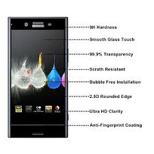 2 Pack Sony Xperia Xz Premium Screen Protector Glass Full Cover Rb Directnine Europe