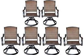 patio outdoor furniture swivel rocker