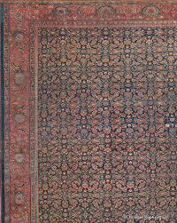 antique kurdish bijar rug in allover