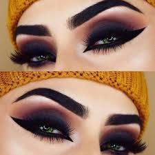 makeup ideas for green eyes cat eye