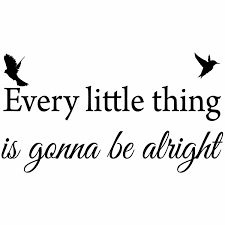 Winston Porter Every Little Thing Is Gonna Be Alright Famous Quotes Wall Decal Reviews Wayfair