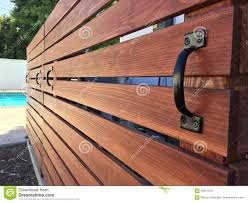 Horizontal Redwood Pool Equipment Cover Removable Fence Stock Photo Image Of Nice Cover 95917076