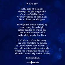 winter sky in the cold quotes writings by suchismita