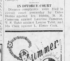 Elmer and Ida Cook divorce court 28 March 1928 Palm Beach Post ...