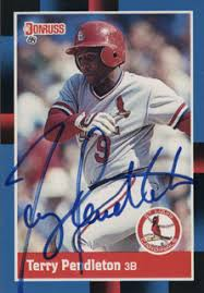 Terry Pendleton - Trading/Sports Card Signed | HistoryForSale Item 327759