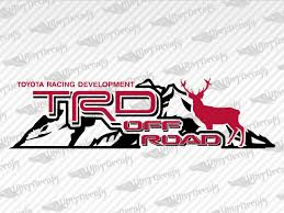 Toyota Trd Off Road Mountain Deer Decal
