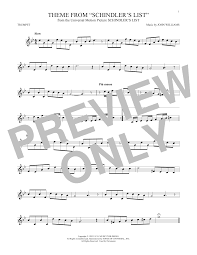 Theme From Schindler's List Sheet Music by John Williams for ...