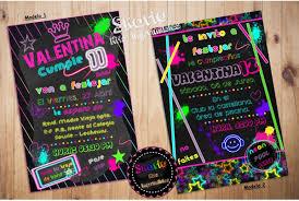 Invitacion Digital Neon Fluor 1 500 En Mercado Libre