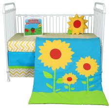 sunflower love 5 piece crib bedding set