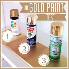 the gold spray paint test