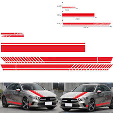 5pcs Car Body Racing Side Door Long Sticker Hood Mirror Decal Vinyl Stickers Alexnld Com