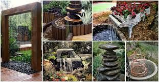 diy garden fountain designs archives