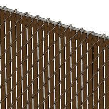 Pds Tl Chain Link Fence Slats Top Lock 6 Foot Brown
