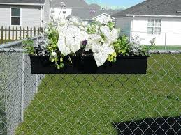 Hanging Fence Planters Planters Hanging Flower Box Arrangements Fence Planters Hanging White Flowers Fence Planters Fence Hanging Planters Backyard Fence Decor