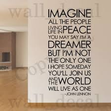 Imagine John Lennon The Beatles Removable Wall Decal Vinyl Sticker Decor Quote Ebay Music Wall Decal Beatles Wall John Lennon