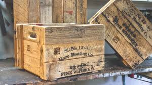 rustic prohibition crates making