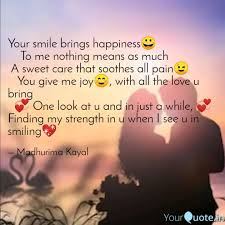 your smile brings happine quotes writings by madhurima