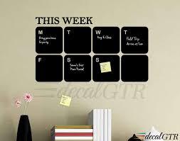 Chalkboard Decal Chalkboard Calendar Weekly Calendar 13x22 Etsy
