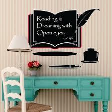 Shop Walplus Book Blackboard Chalkboard Wall Sticker Decal Nursery Art Overstock 31867804
