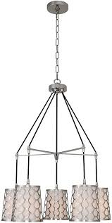ariel 5 light 24 inch polished nickel