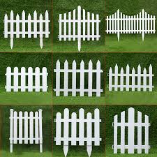 Direct Sales Pvc White Plastic Fence Garden Fence Garden Yeezy Tree Decorative Fence A Variety Of Options