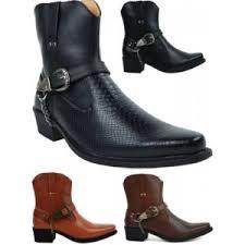 gents smart ankle cuban heel