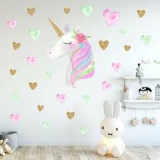 Us Rainbow Unicorn Wall Sticker Girls Bedroom Wall Decal Art Nursery H Jayden S Fashion Closet